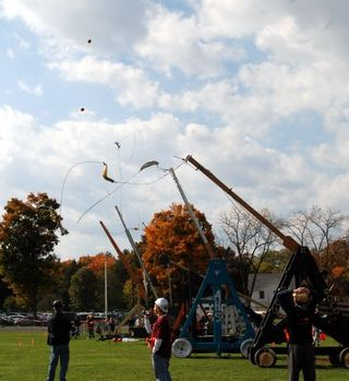 Pumpkin catapult